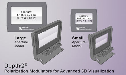 DepthQ® Polarization Modulator apertures