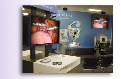 DepthQ&reg stereo 3D visualization for Intuitive Surgical at the AAGL conference.
