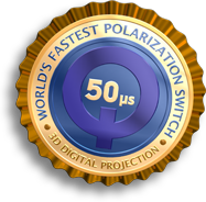 DepthQ� Polarization Modulators are the world's fastest polarization switches for 3D digital projection
