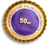 The DepthQ� Polarization Modulator is the world's fastest polarization switch for 3D digital cinema